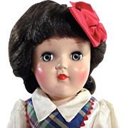 Toni Doll Ideal P-90 Brunette, All Original in Original Box with Play Wave Set Vintage 1950s