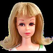 Francie Doll In Original Swimsuit, Blonde Bend Leg, Mattel, Vintage 1966