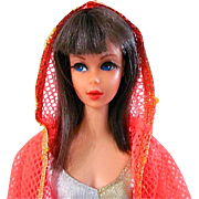 Dramatic New Living Barbie Doll In Original Swimsuit & Cover-up, Mattel, Vintage 1970