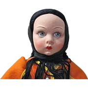 Italian Felt Lenci Doll 14-Inch Rita From Sardinia With 2 Labels
