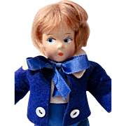 Madame Alexander 7-Inch Composition Little Boy Blue Doll Vintage 1930s-40s