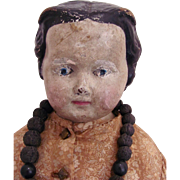 Rare Large Size American Rawhide Doll Circa 1860s Made by Darrow