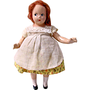 Mme. Alexander 7-Inch Tiny Betty Composition Doll Vintage 1930s-40s