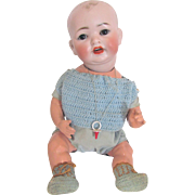German Bisque Head Character Boy Baby on Original Composition Body