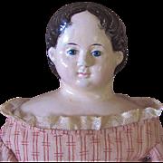 Greiner Paper Mache Doll, 28-Inch With Original 1858 Label