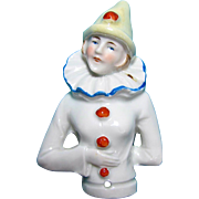 German Porcelain Half Doll, Pierrette With Arms Akimbo, Circa 1920s