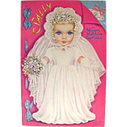 1950 Queen Holden Sally, Bride Doll with Wardrobe, Uncut, Whitman