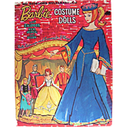 Barbie Little Theater Paper Dolls, Barbie Costume Dolls, Whitman, Vintage 1964