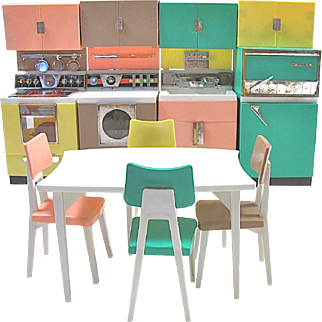 Deluxe Reading Dream Kitchen Set, Fits Barbie Dolls, Vintage 1961