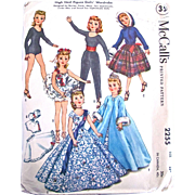 Miss Revlon Doll Clothes Pattern, McCall's 2255, Size 15 Inch, Uncut, Factory Folded, 1959