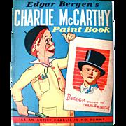 Charlie McCarthy Paint Book, Whitman, Vintage 1938, Unused
