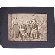 Antique Photograph, Young Girl With Dolls, Family Group, Portrait, Circa Late 19th/Early 20th Century