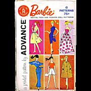 Barbie Doll Pattern UNCUT Advance Group A Vintage 1961