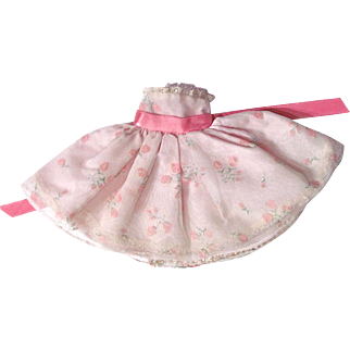 Vogue Jill Doll Dress #3340, Pink Floral Dress, Vintage 1958