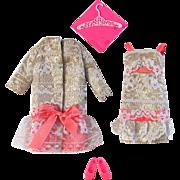 Francie Doll Fashion, The Lace Pace, #1216, Mattel, Vintage 1968