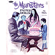 The Munsters Paper Dolls Whitman Vintage 1966 Cut Set