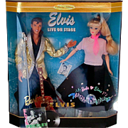 Barbie Loves Elvis Giftset, Mattel Collectors Edition, Vintage 1997, Never Removed From Box