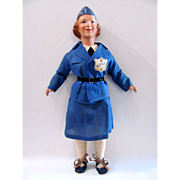 Freundlich Composition WAVE Doll, All Original, Vintage 1941 – 1945, WWII Era