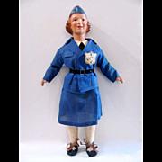 Freundlich Composition WAVE Doll, All Original, Vintage 1941 – 1945, WWII Era