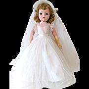 Hard Plastic & Vinyl Binnie Bride, Madame Alexander Doll, 18 Inch, Vintage 1956