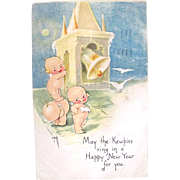 Kewpies Post Card, Happy New Year, Rose O'Neill, Gibson Art, Vintage 1924