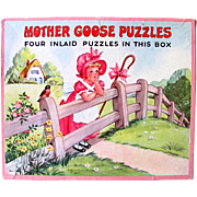 Mother Goose Picture Puzzles Platt & Munk Vintage 1952
