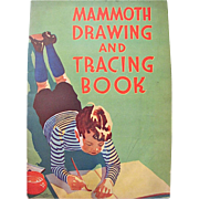 Mammoth Drawing & Tracing Book Whitman Vintage 1930s Coloring Book