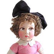 French Raynal Cloth Doll, 22-Inch Girl In Original Felt Costume, Circa 1926