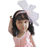 Rare French Variation, 18-Inch Princess Elizabeth Doll, Unique Neck Attachment, Circa 1938