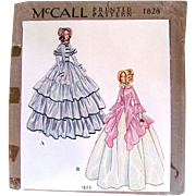 Boudoir Doll Clothes Pattern, McCall 1828, Complete, Factory Folded, Vintage 1930s