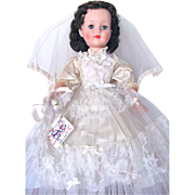 American Character Sweet Sue Bride Doll, 23-Inch Walker, All Original in Original Box