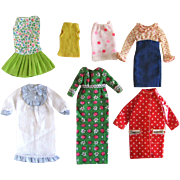 Francie Doll Clothes Assortment, 7 Pieces, Vintage 1966-1972