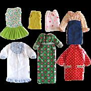 Francie Doll Clothes Assortment, 7 Pieces, Vintage 1966-1972