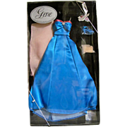 Gene Doll Blue Evening Fashion, Mint in Box, Timothy Alberts, Evening Gown, Vintage 1995