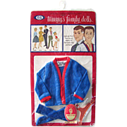 Tammy's Dad, Doll Clothes, Cardigan Sweater, Mint in Package, Vintage 1963, Tammy Family, Brother Ted