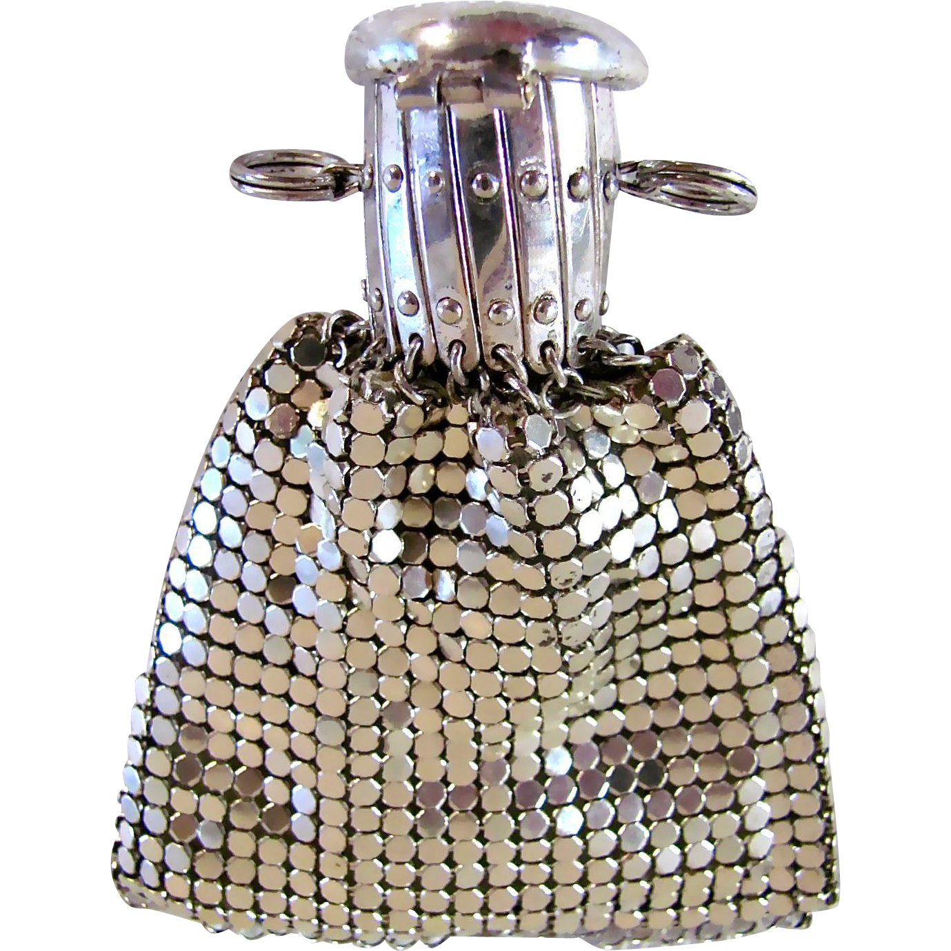 Doll Purse or Chatelaine Purse Metal Mesh Gate Top West Germany Vintage 1940s