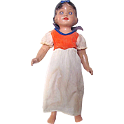 Composition Snow White Doll in Original Costume Unmarked Vintage 1930s