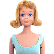 Blonde Straight Leg Midge Doll in Original Swimsuit and Heels Circa 1964-66