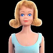 Blonde Straight Leg Midge Doll in Original Swimsuit and Heels Circa 1964-66