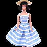 Dark Brunette Straight Leg Midge Doll Wearing Suburban Shopper Circa 1964