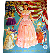 Merrill American Beauty Paper Dolls, Uncut, Vintage 1951, Dresses worn by Whitehouse Ladies