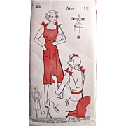 1930s Pattern, Dress Jumper With Blouse, New York No. 40 Girls and Juniors Size 12, Unused, Factory Folded, Vintage Sewing Pattern