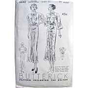 Misses Dress, Frock Pattern, Butterick Deltor Pattern 6642, Size 20, Bust 38, Factory Folded, Vintage 1930s