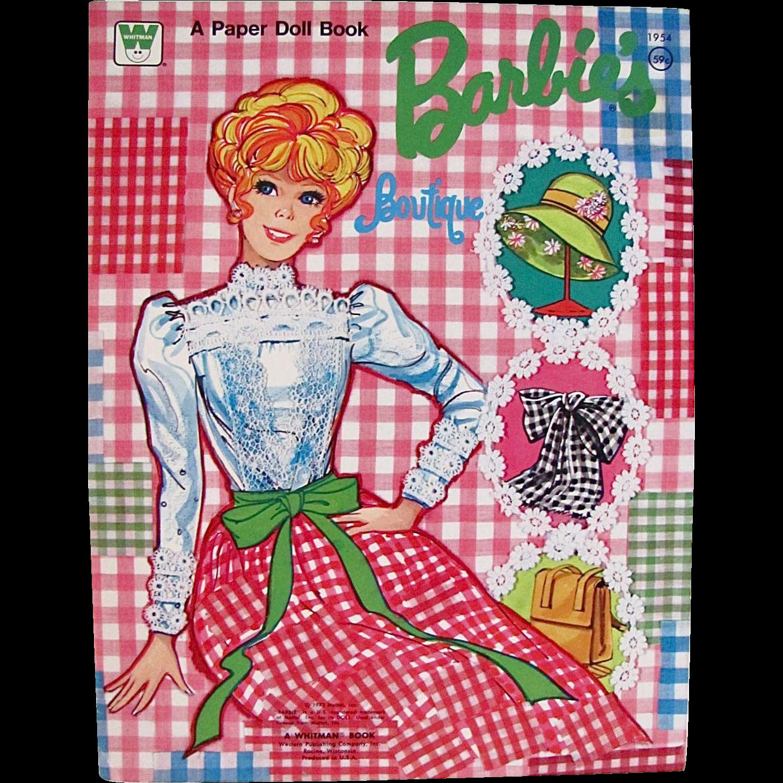 Barbie Boutique Paper Dolls Uncut Whitman Vintage 1973