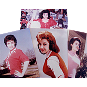 Annette Funicello Publicity Photos, 4 Different Poses, Full Color, 8 x 10 Glossy Photographs, Vintage 1950s-60s