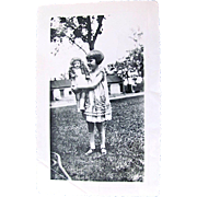 Lucille and Her Doll Original Glossy Photograph Circa 1920s