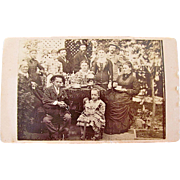 Tea Party, Brother and Sister with Doll and Dog Original CDV Photograph Circa 1800s