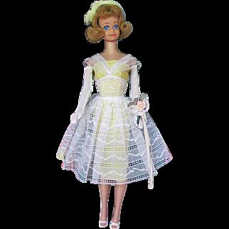 Midge Doll Wearing Orange Blossom Fashion Complete Vintage 1963 Mattel Strawberry Blonde