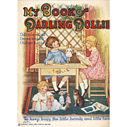 My Book Of Darling Dollies Paper Dolls, Complete and Uncut, Sam'l Gabriel, Original Vintage Dated 1920