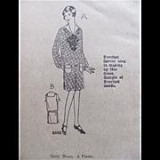 Flapper Girls' Dress Pattern, Ladies Home Journal Pattern 4816, Size 14, Factory Folded, Vintage 1920s